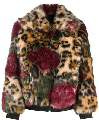 Zadig & Voltaire Leopard Print Faux-Fur Jacket