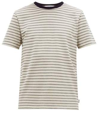 Frame Striped Cotton-jersey T-shirt - Mens - White Multi