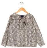 Oscar de la Renta Girls' Printed Long Sleeve Top w/ Tags