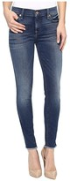 7 For All Mankind The Ankle Skinny w/ Raw Hem in Rich Coastal Blue (Rich Coastal Blue) Women's Jeans