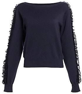 See by Chloe Women's Ruffle Sleeve Knit Sweater