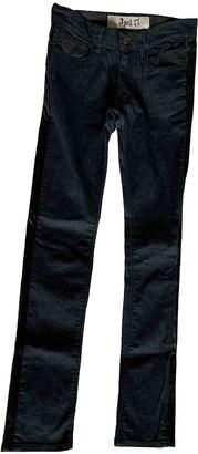 April 77 Navy Cotton - elasthane Jeans for Women