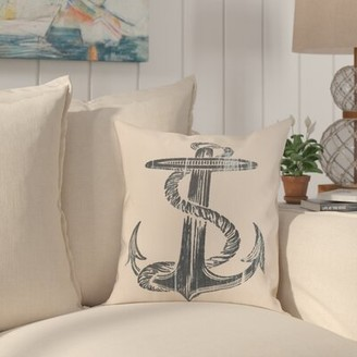Raiana Anchor Throw Pillow Highland Dunes