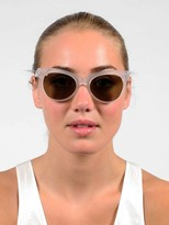 Cat Eye Kamali Kulture Square Sunglasses / Clear