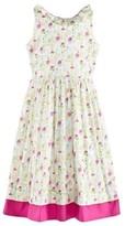 Oscar de la Renta Multicoloured Floral Dress