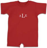 Princess Linens Red Monogram Romper - Infant