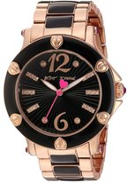 Betsey Johnson Women's BJ00459-08 - Rose Gold & Black Rose Gold/Black