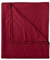 Eddie Bauer Unisex-Adult Flannel Duvet Cover - Solid, Claret TWIN