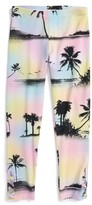 Flowers by Zoe Girl's Palm Tree Print Leggings