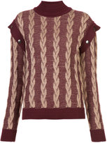 Marc Jacobs roll-neck layered sleeve top