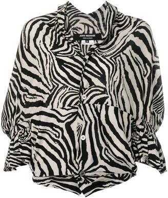 Junya Watanabe Comme Des Garçons Pre Owned Zebra Striped Top