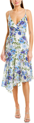 Yumi Kim Silk-Blend Midi Dress