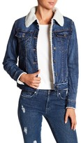 BCBGeneration Faux Shearling Lined Denim Jacket