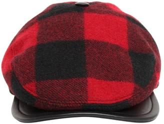 DSQUARED2 Wool Plaid Flat Cap