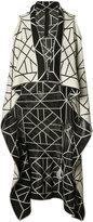 Gareth Pugh knitted long sleeveless wrap jacket - women - Silk/Cotton - One Size