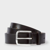 Paul Smith Men's Black Leather Belt With No.9 Lining