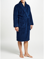 John Lewis High Pile Fleece Robe, Navy