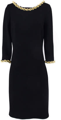 Moschino Black Virgin Wool Dress