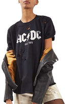 Topshop TALL AC/DC Nibbled T-Shirt by And Finally