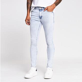 River Island Blue acid was Danny super skinny jeans