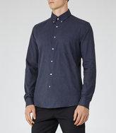 Reiss Reiss Carmichael - Slim-fit Shirt In Blue
