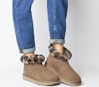 UGG Classic Mini Leopard Boots Chestnut