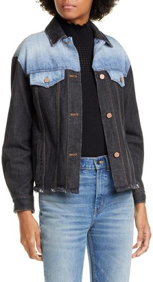 La Vie Rebecca Taylor Denim Patch Jacket