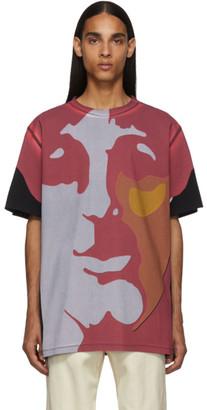 Stella McCartney Multicolor The Beatles Edition Oversized Paul McCartney and John Lennon T-Shirt