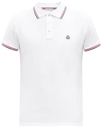 Moncler Logo Patch Cotton-pique Polo Shirt - White