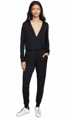 Splendid Women's Long Sleeve Surplice Jumpsuit