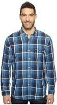 True Grit Genuine Linen Long Sleeve One-Pocket Shirt Big Plaids Men's Clothing