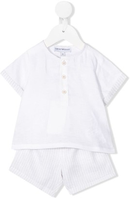 Emporio Armani Kids Two-Piece Striped Set