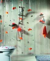 Spirella Goldfish Orange Plastic Shower Curtain 100% PVC Transparent Orange 180 cm x 200 cm by