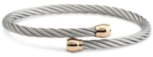 Charriol Two-Tone Cable Bypass Bangle Bracelet in Pvd Stainless Steel & Rose Gold-Tone