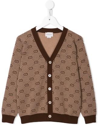 Gucci Kids Monogram Pattern Cardigan