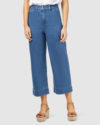 Jeanswest Cara Double Button Wide Leg Jean