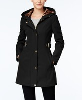 Via Spiga Petite Hooded Softshell Coat