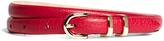 Brooks Brothers Pebble Calfskin Feathered Skinny Belt