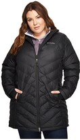 Columbia Plus Size Heavenly Long Hooded Jacket (Black) Women's Coat