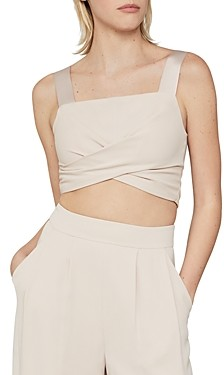 BCBGMAXAZRIA Wrap-Tie Crop Top