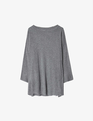 Zadig & Voltaire Flint star-embroidered cashmere jumper