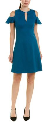 Elie Tahari Linen-Blend A-Line Dress