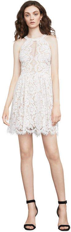 BCBGMAXAZRIA Megyn Lace Halter Dress