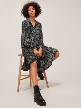 AND/OR Fifi Boho Spot Dress, Black/Multi