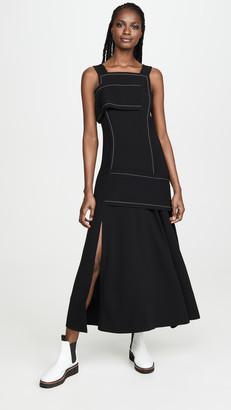 3.1 Phillip Lim Crepe Asymmetric Wrap Cold Shoulder Dress