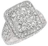 Morris & David 14Kt White Gold and Diamond Ring
