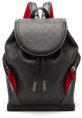 Christian Louboutin Explorafunk Logo Debossed Backpack - Mens - Black