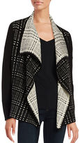 Ivanka Trump Patterned Flyaway Cardigan