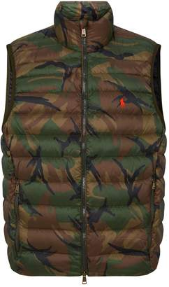 Polo Ralph Lauren Camouflage Print Quilted Down Gilet