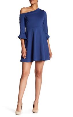 Vanity Room One-Shoulder Tulip Sleeve Dress
